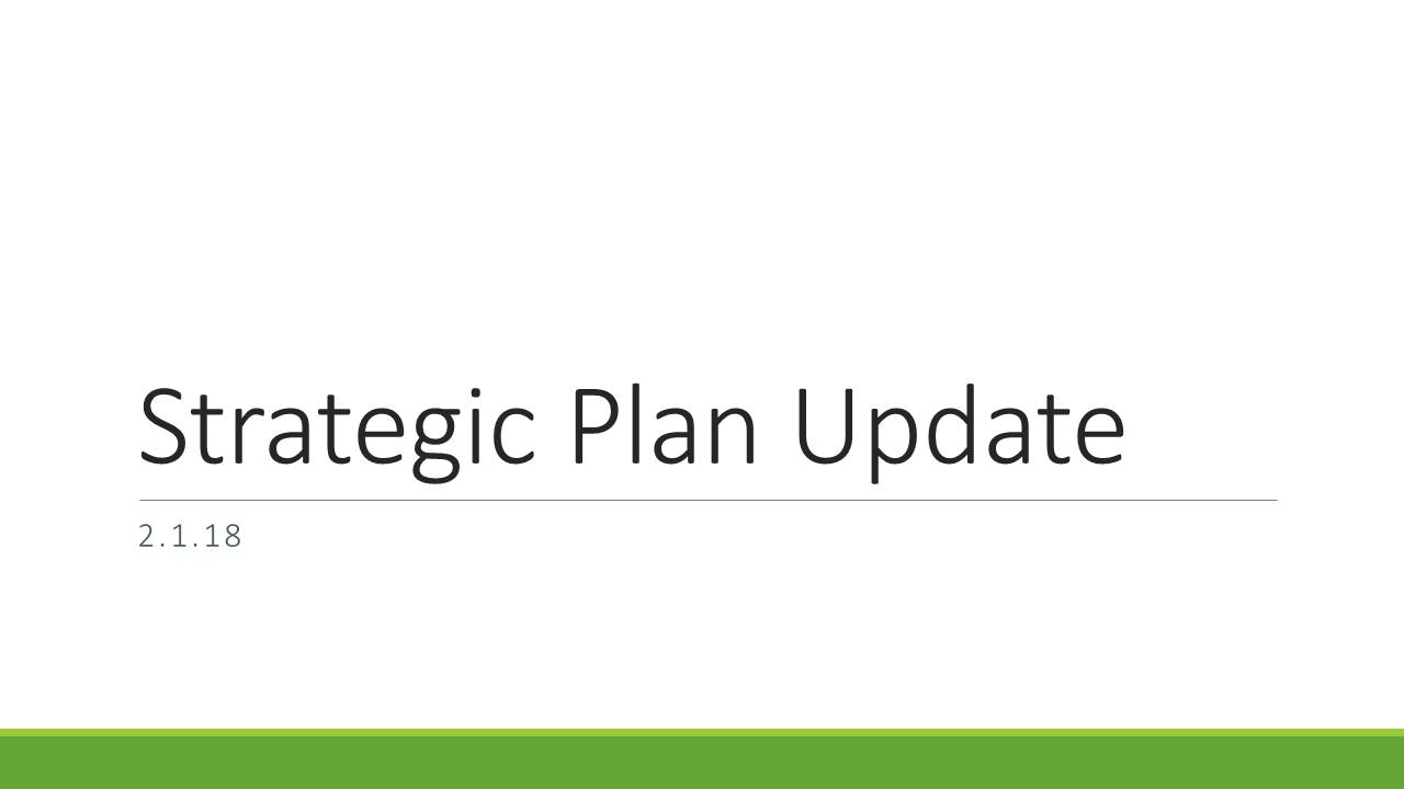 "Text reading ""Strategic Plan Update"""