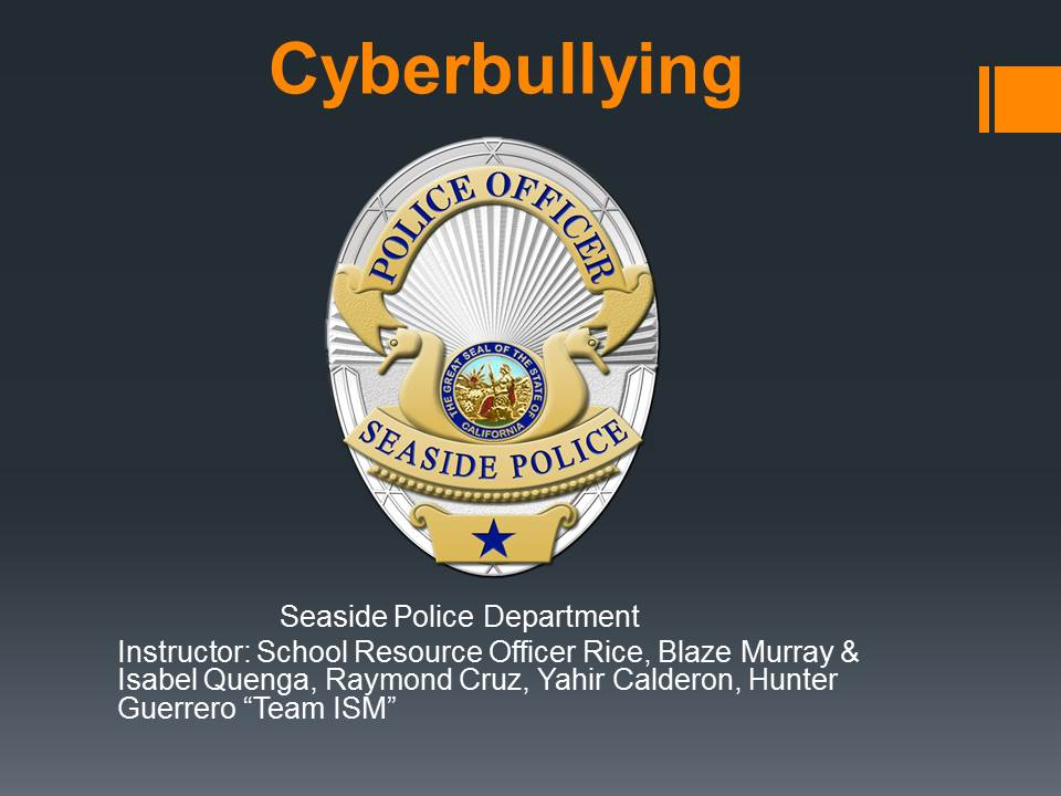 Powerpoint for Cyberbullying