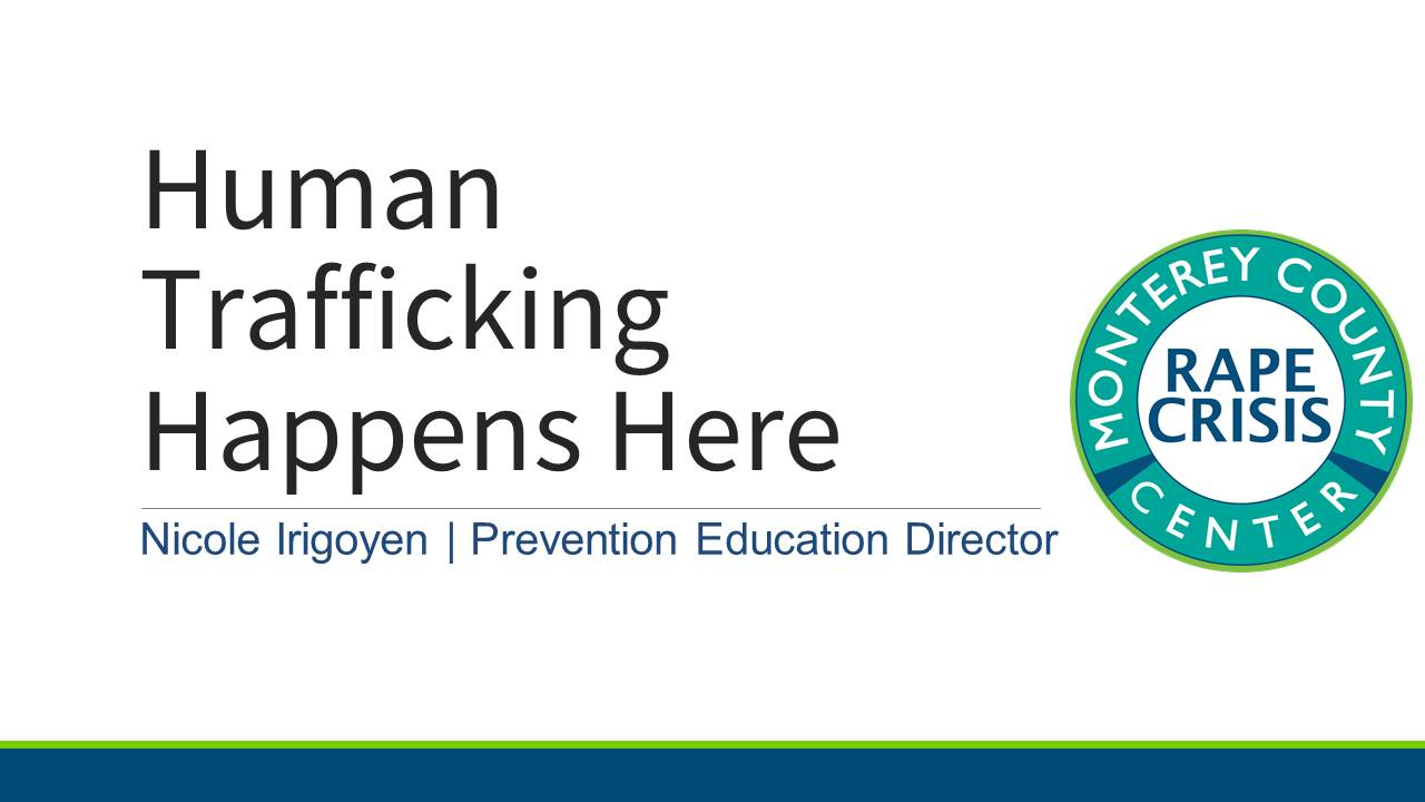Powerpoint for Human Trafficking Happens Here