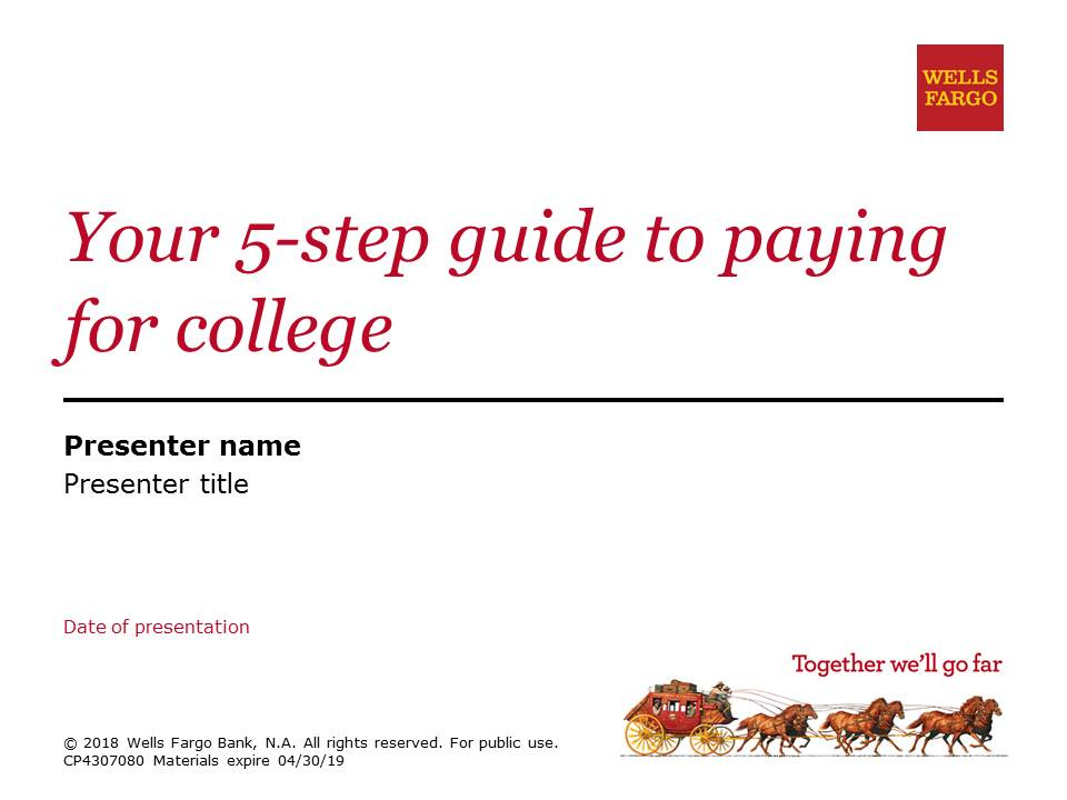 Powerpoint for Paying for College